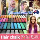 MunGyo 24,32,48,64 Colours Non-toxic Temporary Hair Colouring Chalk Dye Pastels