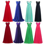 GK Vintage Long Bridesmaid Dresses Formal Wedding Dress Ball Gown PLUS SIZE 6-20