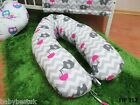 Maternity   Nursing Support Body Pillow with Tie Cord 160cm - ELEPHANTS