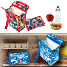 """2 Packit PK2 Freezable Foldable 8"""" Lunch Bags Gel Lined Reusable Freezer/Cooler"""
