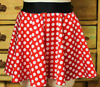 Minnie Mouse women's running skirt costume disney marathon pink red polka dots