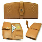 Quality Genuine Leather Ladies Womens Wallet Purse Coins Zip Pocket Black/Tan