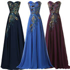 PLUS SIZE Formal Long 50s WEDDING Bridesmaid Evening Prom Graduation Dresses NEW