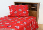 Ohio State Buckeyes Sheet Set Twin Full Queen King Size Team Color