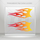 Sticker Decal Pair Of Flames Red Orange Yellow Vehicle  mtv ZE29W