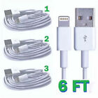 New 3x 6ft 8 Pin Usb Sync Data Charger Cable Cord For Apple Iphone Ipod Itouch