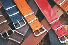 Premium Leather Nato Replacement Watch Strap Band! image