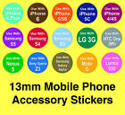 HTC Mobile Phone Accessory Stickers - Removable Adhesive 'Use With' Labels