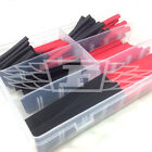 100 PIECE 2:1 HEAT SHRINK TUBE KIT - BLACK & RED - HEATSHRINK KIT