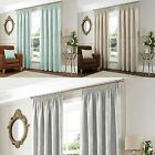 Curtina® LINED TAPE CURTAINS SANDHURST NATURAL DUCK EGG SILVER
