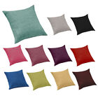 Linen Effect Scatter Cushions Ready Filled Upholstery Fabric Sofa Interior Pad