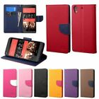 Dual Color Wallet Leather Flip Case Cover Stand For HTC Desire 626/626s Luxury