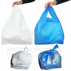 PLASTIC VEST CARRIER BAGS BLUE OR WHITE *ALL SIZES*