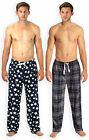 Mens Printed Pyjama Bottoms New Nightwear Mens Fleece Lounge Pants Sizes S-XL