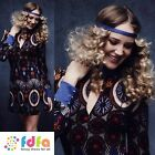 60s 70s HIPPY BEAUTY HIPPIE FLOWER - UK 4-14 - womens ladies fancy dress costume