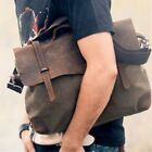 Men's Canvas Leather Briefcase Handbag Shoulder Messenger Bag Crossbody Satchel