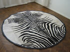 NEW COWHIDE PATCHWORK RUG LEATHER CARPET cu_489