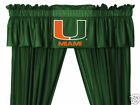 Miami Hurricanes Curtains Drapes & Valance Set with Tie Backs