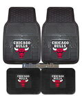 Chicago Bulls Car Mats 4 Pc Front & Rear Heavy Duty Vinyl