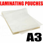 100 X A3 150 MICRON LAMINATING POUCHES GLOSS SLEEVES SHEETS LAMINATOR POUCH
