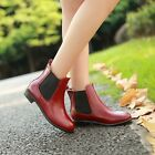 Fashion Womens Pointy Toe Ankle Boots Elastic Pull On Roman Casual Shoes US4.5-8