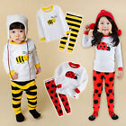 "NWT Vaenait Baby Toddler Kids Girls Boys Clothes Pyjama Set ""Cute Bug"" 12M-7T"