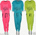 Womens Ladies Girls  New York Jogging Bottoms Sweatshirt Top Jog NEON Tracksuits
