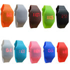 Women Men's Fashion Colorful Jelly Ultra-Thin LED Silicone Sport Wrist Watch NEW