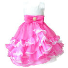 New Girls Kids Princess Vest With Pearl Wedding Gown Dress Size 2-7 Years