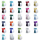 "100 pcs Satin Chair Cover Bow Sash 108""x8"" Wedding Party Banquet Reception"