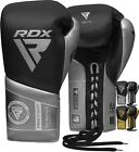 RDX Leather Weight Lifting Grips Training Gym Straps Gloves Hand Palm Support BW