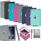 Hybrid Shockproof Heavy Rubber Case Cover For Apple iPad Air 2 iPad 5 6 Retina