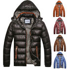 Men's Winter Warm Hooded Hoodie Jacket  Quilted Thick Padded Coat Outwear Parka