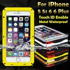 HOTSALE Waterproof Metal Aluminum Gorilla Cover Case for iPhone 5/5s/6/6 Plus UK