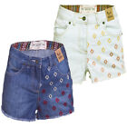 Ladies BELLFIELD SANDFORD Patterned High Waisted Denim Shorts 8-10-12-14-16
