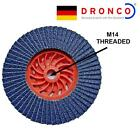 DRONCO FLAP SANDING WHEELS M14 THREAD NO NUT OR SPANNER NEEDED 4 GRADES