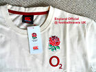 S M L XXL ENGLAND RUGBY T SHIRT NEW Football Cotton By Canterbury New
