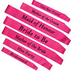 Fashion Hot Sale Hen Party Sashes Girls Night Out Accessory Pink Wedding Sash