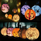 LED Paper Lantern Pumpkin Spider Bat Hanging Light Lamp Halloween Party Decor