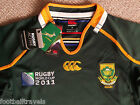 MEDIUM SOUTH AFRICA SPRINGBOKS WORLD CUP PRO RUGBY SHIRT JERSEY Canterbury