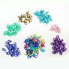 20/50Pcs Colorful Lobster Claw Clasps Hook Connector Jewelry Findings DIY 14mm