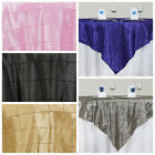 "15 pcs 72x72"" Square Pintuck TABLE OVERLAYS Wedding Linens Tablecloths Wholesale"