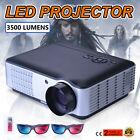 3500 LUMENS HD 1080P HOME CINEMA THEATER MULTIMEDIA LED LCD PROJECTOR HDMI 3D