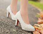 Women Lace Floral Princess Grace High Heels Wedding Party Shoes New Wedges Pumps