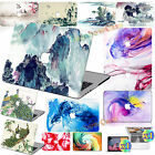 3in1 Watercolor Print Rubberized Hard Case Cover For Macbook Pro Air 11 12 13 15