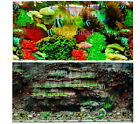 "Aquarium Fish Tank Background H 16"" picture 2 sided image wall Decor:04 home new"