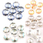 Lot 20/40PCS Faceted Top Crystal Flower Shape Loose Spacer Craft Beads 10x4mm
