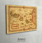 Wall map of Narnia,  Narnia map, Narnia poster art print framed canvas large sizes