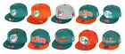Mitchell & Ness Miami Dolphins NFL Men's Fitted Team Hat Cap - Different Styles