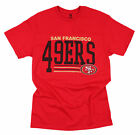 San Francisco 49ers Football NFL Men's Fundamentals Logo T-Shirt Top Tee, Red